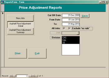 ACPIR Price Adjustments