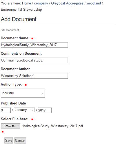 LEMS Add Document